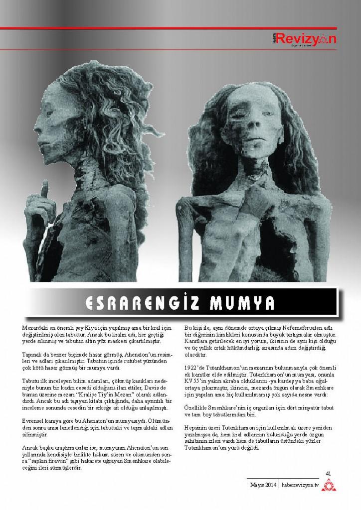 Haber Revizyon 2014 MAYIS gizemli mumya 2