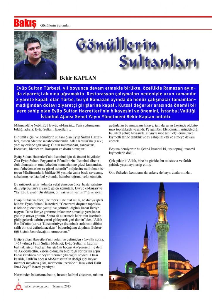 Haber Revizyon Temmuz 2013 Bekir Kaplan